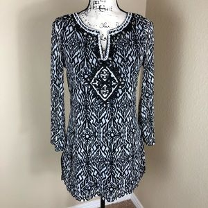 INC International Concepts Embellished Tunic Top M